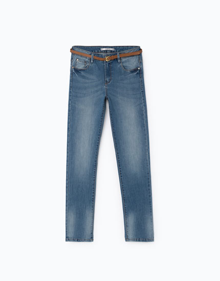 SLIM FIT JEANS WITH BELT