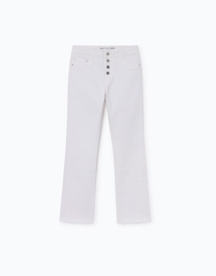 MINI FLARE CROPPED JEANS