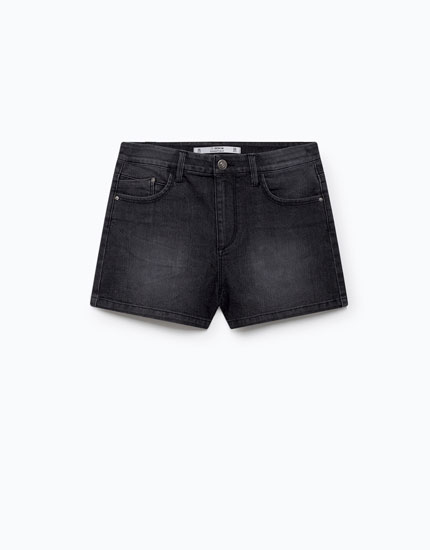 HIGH RISE DENIM SHORTS