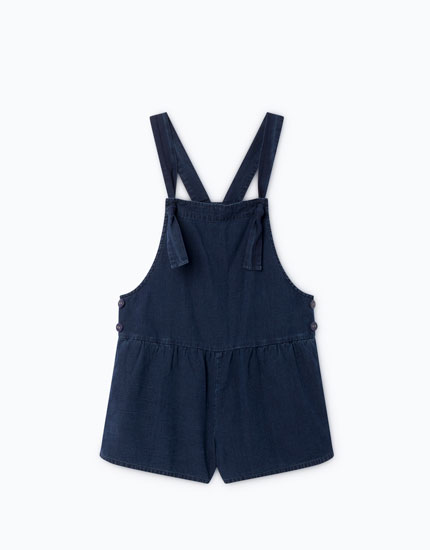 LIGHTWEIGHT DUNGAREES WITH KNOTTED BRACES