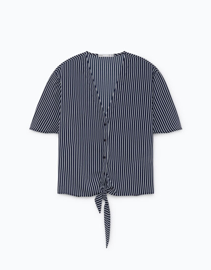 SHIRT WITH FRONT BOW