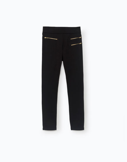 LEGGINGS WITH ZIPS DETAIL