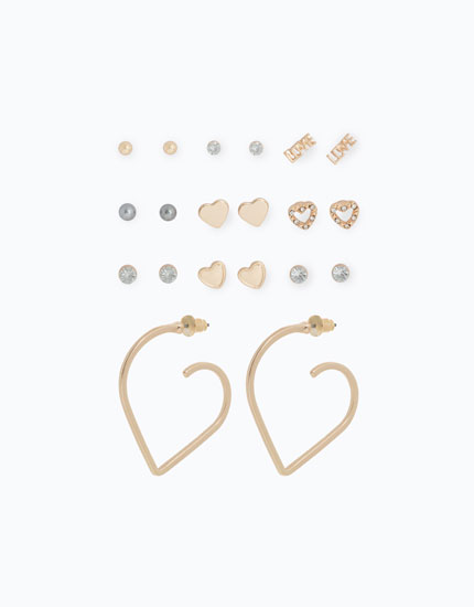PACK OF EARRINGS WITH SHAPES