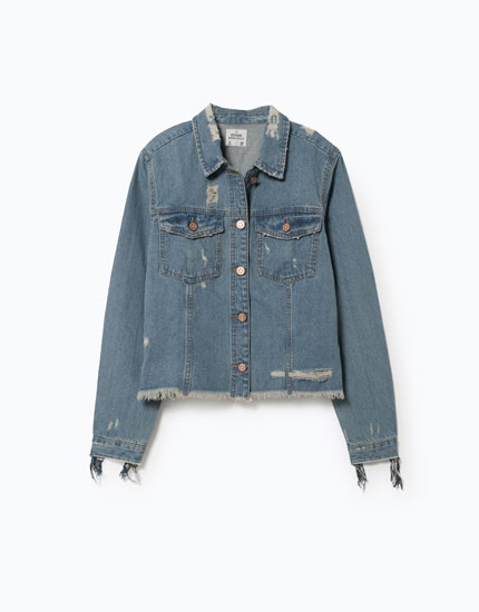 SUPER DESTROYED DENIM JACKET