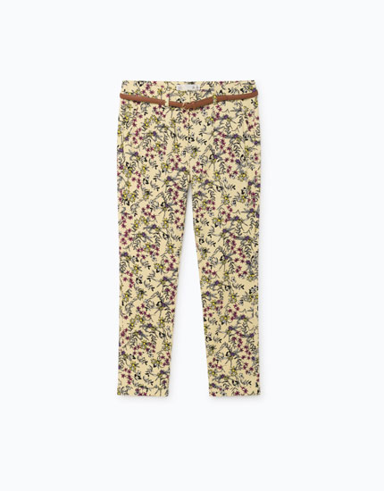 PRINTED CHINO TROUSERS