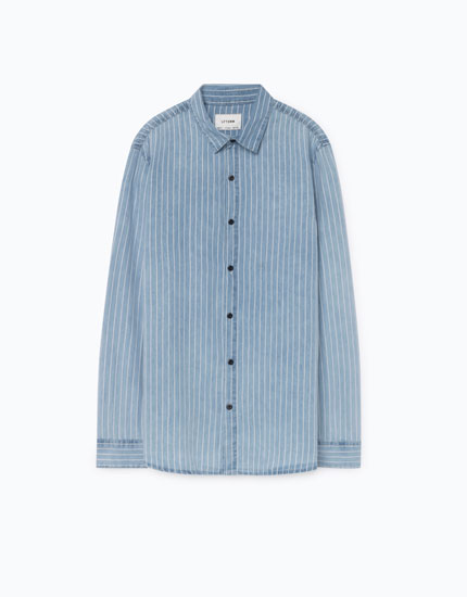 STRIPED INDIGO SHIRT