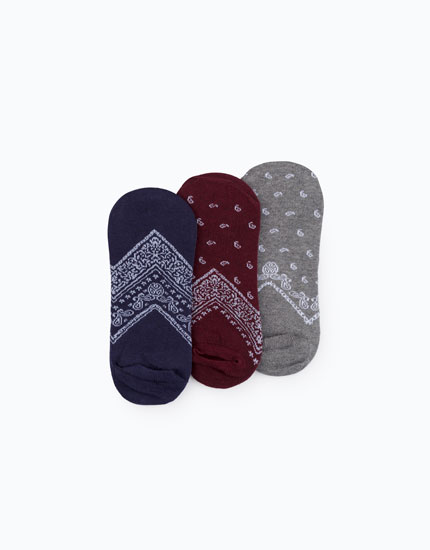 PACK OF PRINTED NO SHOW SOCKS