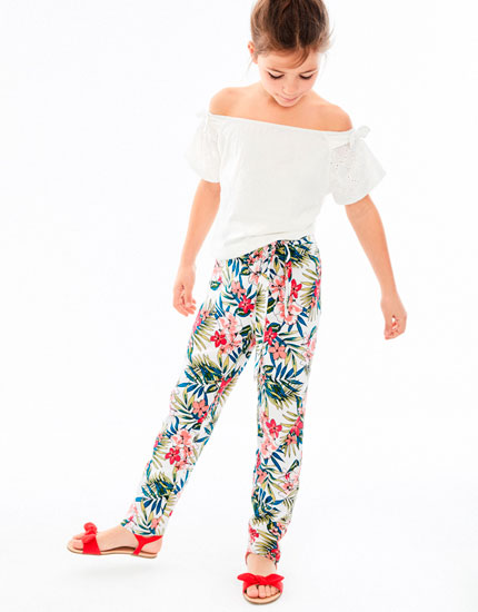 TROPICAL PRINT TROUSERS