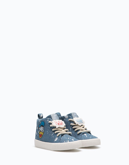 DONALD DUCK HIGH-TOP SNEAKERS