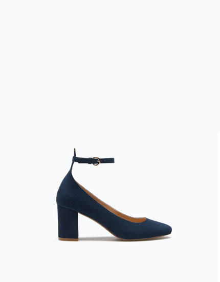BLOCK HEEL SHOES WITH ANKLE STRAP