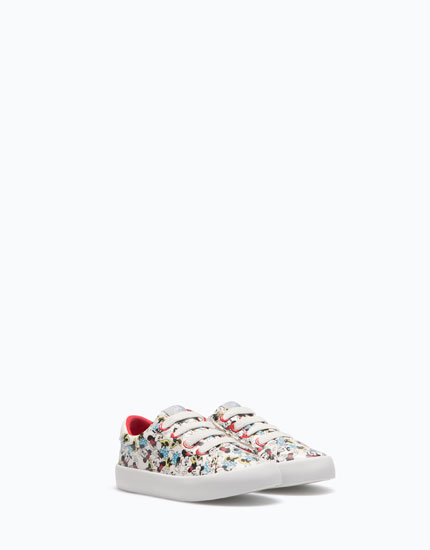 MINNIE MOUSE PLIMSOLLS WITH ZIPS