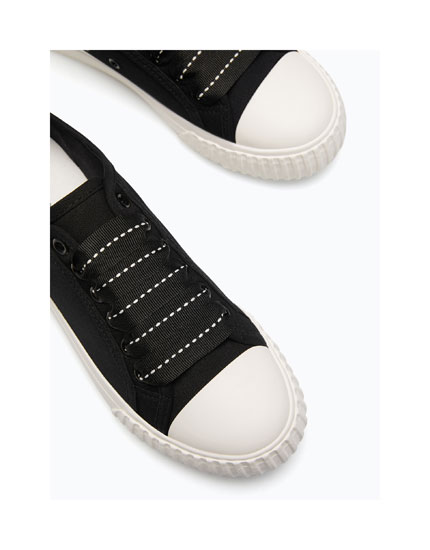 PLIMSOLLS WITH RUBBER TOE CAPS