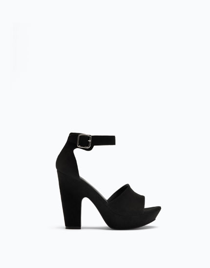 CLOSED HEEL PLATFORM SANDALS