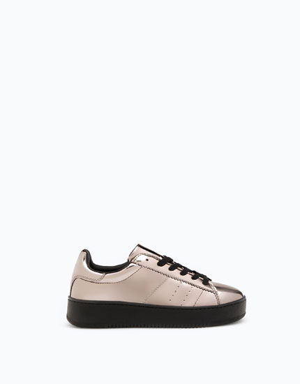 CHUNKY SOLE PLIMSOLLS WITH A MIRRORED DETAIL