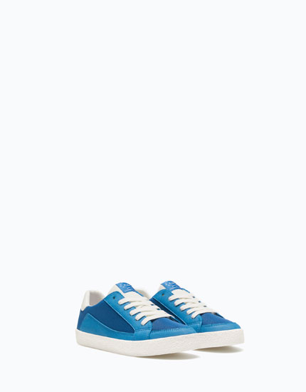 BRIGHT BLUE RETRO PLIMSOLLS