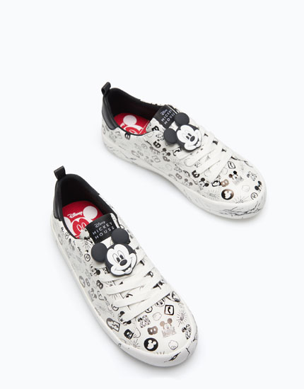 MICKEY MOUSE PLIMSOLLS WITH MARBLED SOLES