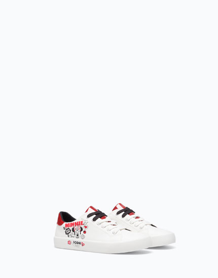 PLIMSOLLS WITH MINNIE MOUSE ICONS