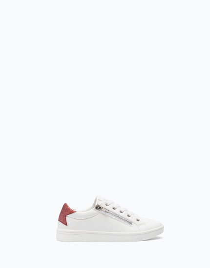 ZIP-UP PLIMSOLLS WITH GLITTER DETAIL
