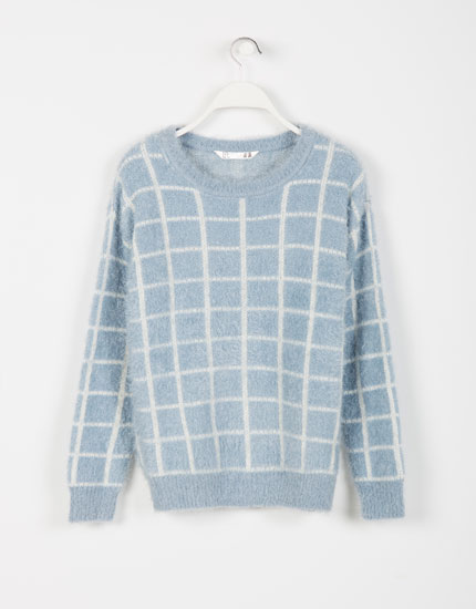 Lefties - checked fluffy jumper - 0-406 - 05622365-I2014