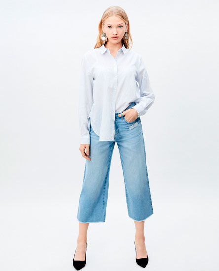 JEANS CROPPED HIGH WAIST
