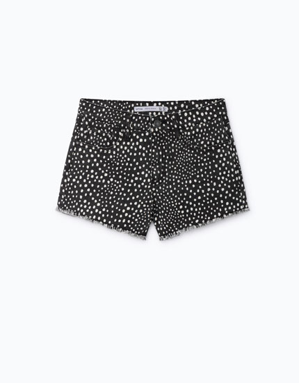 HIGH WAIST PRINTED SHORTS