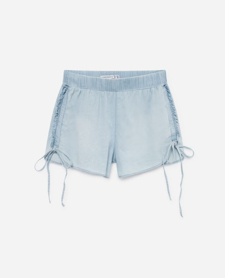 SHORTS WITH SIDE RUFFLES