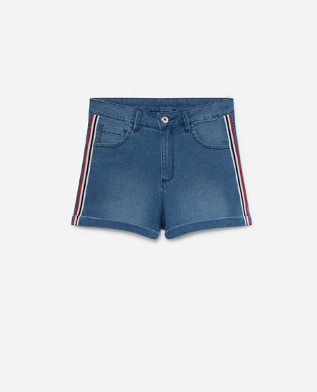 SHORT DENIM BANDA LATERAL