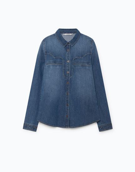 DENIM SHIRT WITH YOKE DETAIL