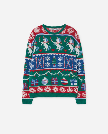 PATTERNED CHRISTMAS SWEATER