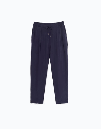 HAREM TROUSERS WITH SIDE STRIPE