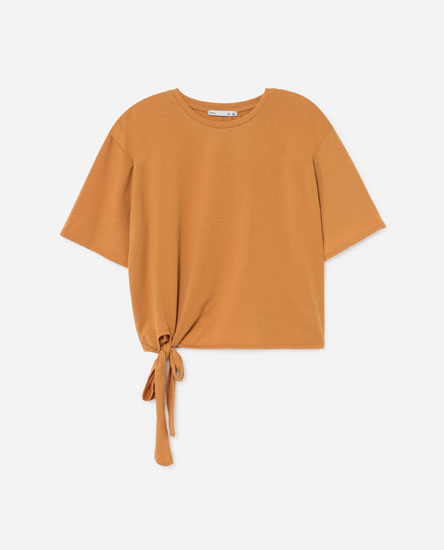 T-SHIRT WITH SIDE TIE