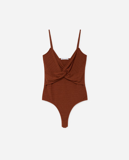 BODYSUIT WITH FRONT KNOT
