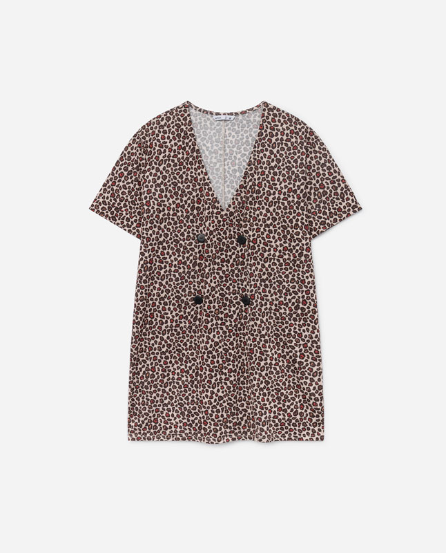 e62fae4f61 ANIMAL PRINT DRESS - Jumpsuits and dresses - COLLECTION - WOMEN ...