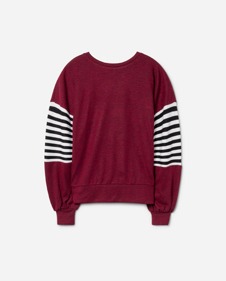 SWEATSHIRT WITH STRIPE DETAIL