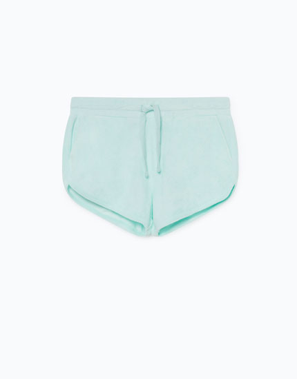 TOWELLING-EFFECT SHORTS