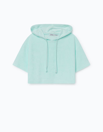 TOWELLING-EFFECT SWEATSHIRT