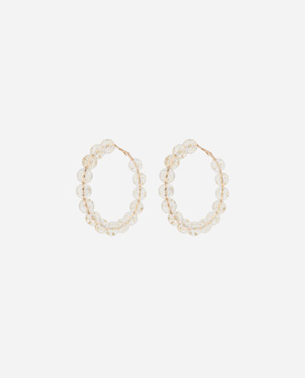 TRANSPARENT HOOP EARRINGS
