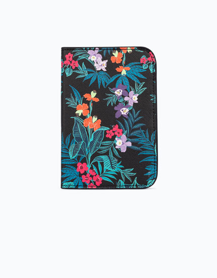 TROPICAL PRINT PASSPORT COVER