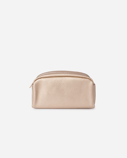 LARGE METALLIC TOILETRY BAG
