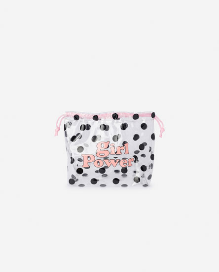 POLKA DOT VINYL TOILETRY BAG