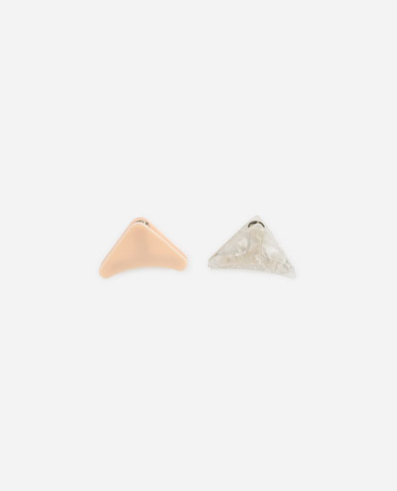 PACK OF TRIANGULAR HAIR CLIPS
