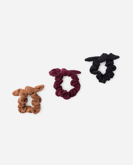 PACK OF CORDUROY SCRUNCHIES