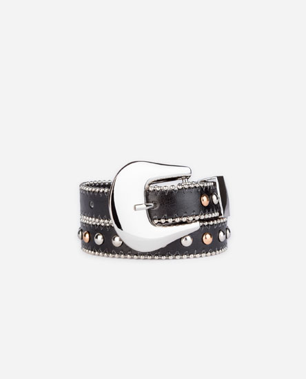 LONG STUDDED BELT