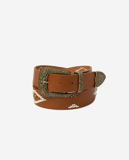 BELT WITH PATTERNED DETAILS