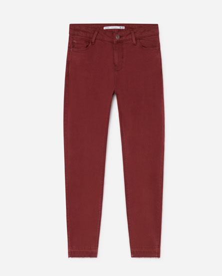COLOURED SUPER SKINNY JEANS
