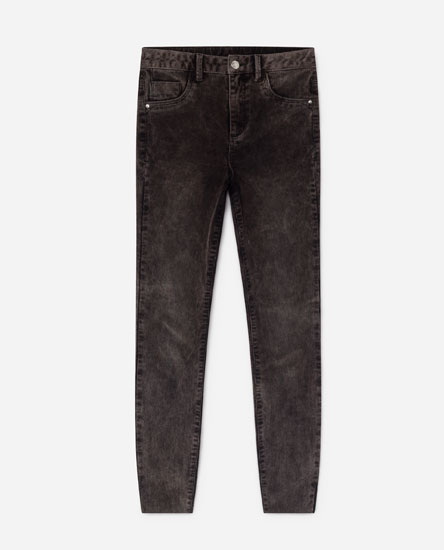 SUPER SKINNY CORDUROY TROUSERS
