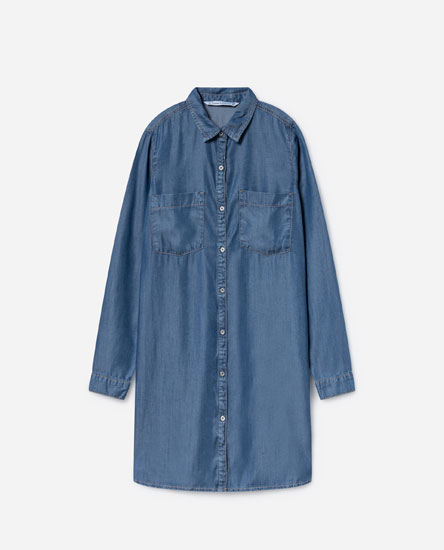 SOFT TOUCH DENIM SHIRT DRESS