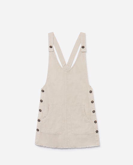 PINAFORE DRESS WITH SIDE BUTTONS