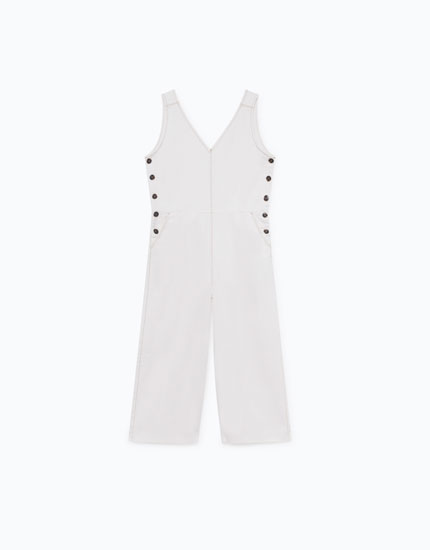 JUMPSUIT WITH CONTRASTING TOPSTITCHING