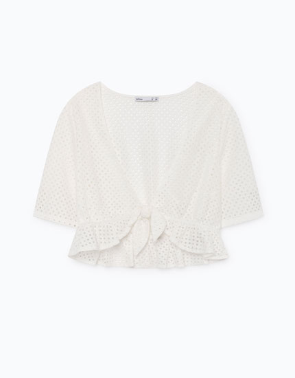 KNOTTED NECKLINE TOP